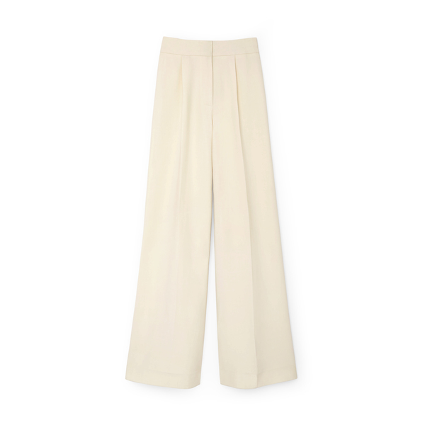 G. Label Carlin High-Waisted Pleat-Front Trousers