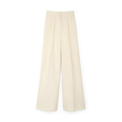 Carlin High-Waisted Pleat-Front Trousers