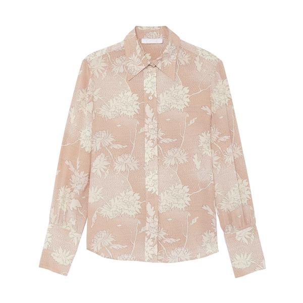 Chloé Rose-Printed Button-Down Shirt