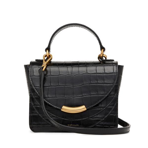 WANDLER Croc-Embossed Luna Bag