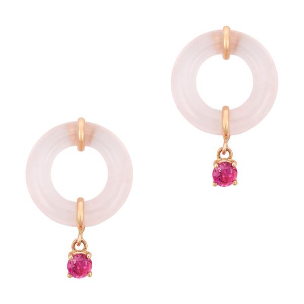 Bondeye Jewelry Rose Quartz Munchkin Earrings