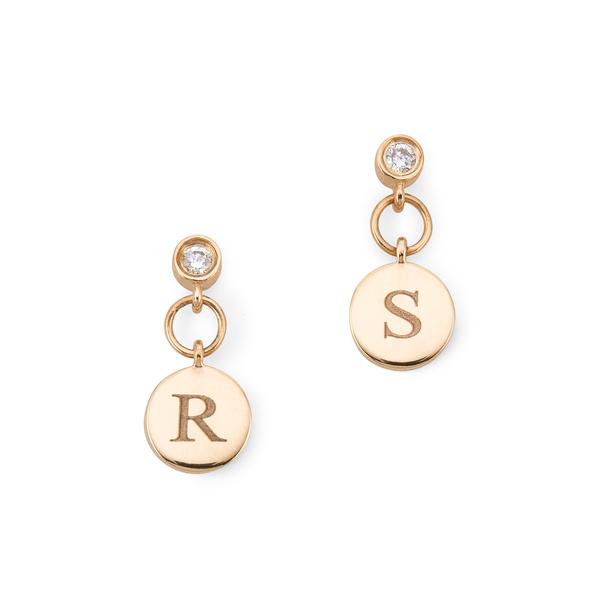 Sophie Ratner Diamond Charm Studs