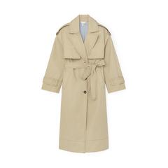 Oversize Water-Resistant Trench Coat