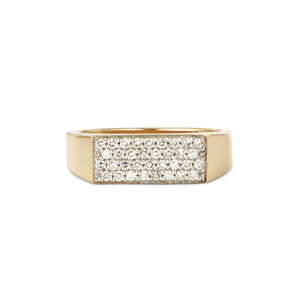 Eriness Diamond Staple Signet Ring