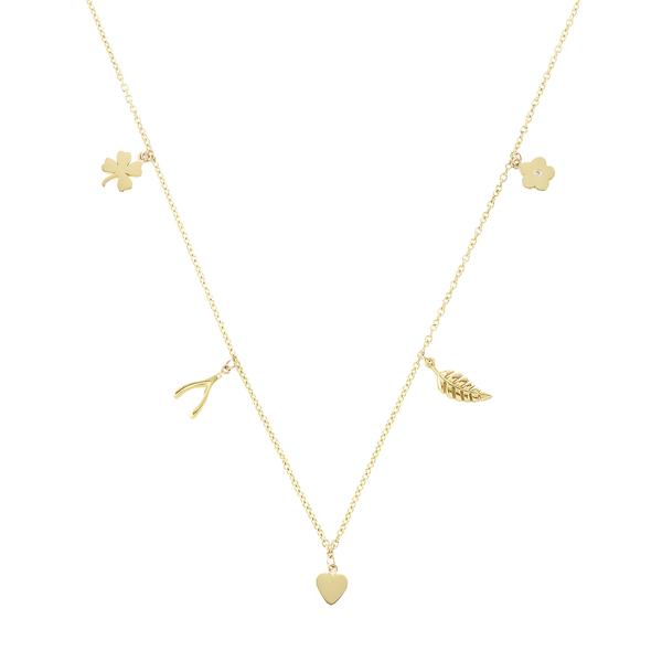 Jennifer Meyer Mini Charm Necklace