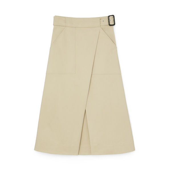 G. Label Hall Cotton Wrap Skirt