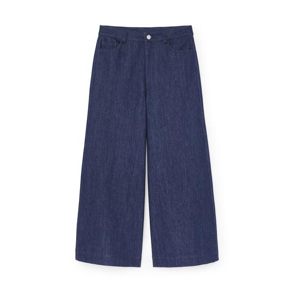 G. Label Nolan Wide-Leg Denim Culottes