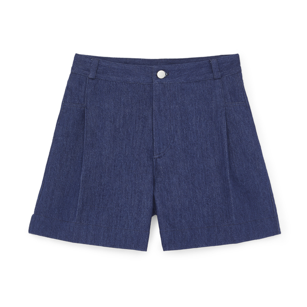G. Label Summer Wide-Leg Denim Shorts