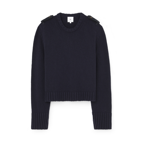 G. Label Thomas Sweater with Epaulets