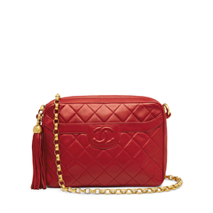Chanel Red Lambskin Pocket Camera Bag