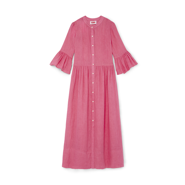 Solid & Striped Linen Button Dress