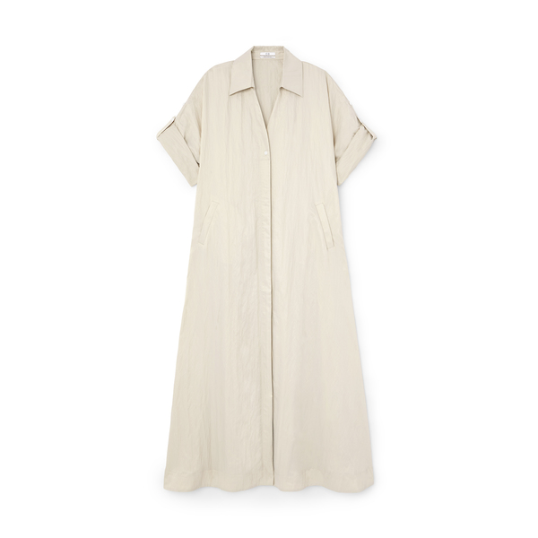 Co Rolled-Sleeve Dress