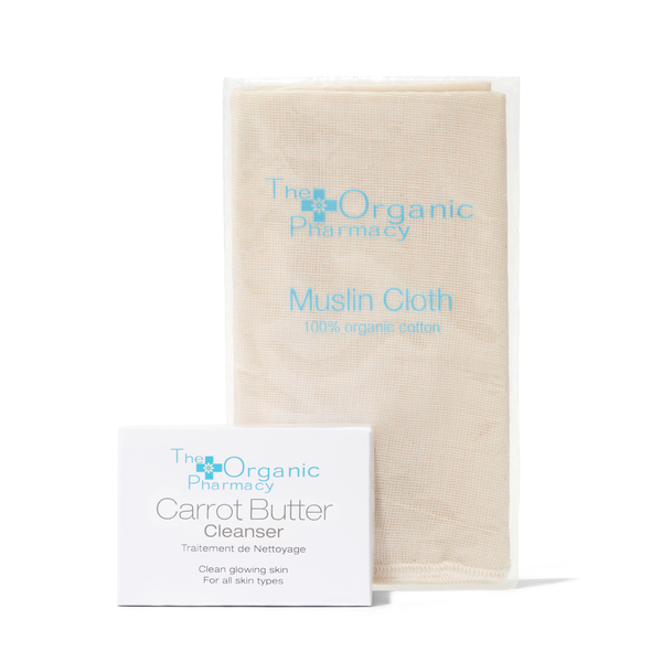 The Organic Pharmacy Carrot Butter Cleanser & Organic Muslin Cloth