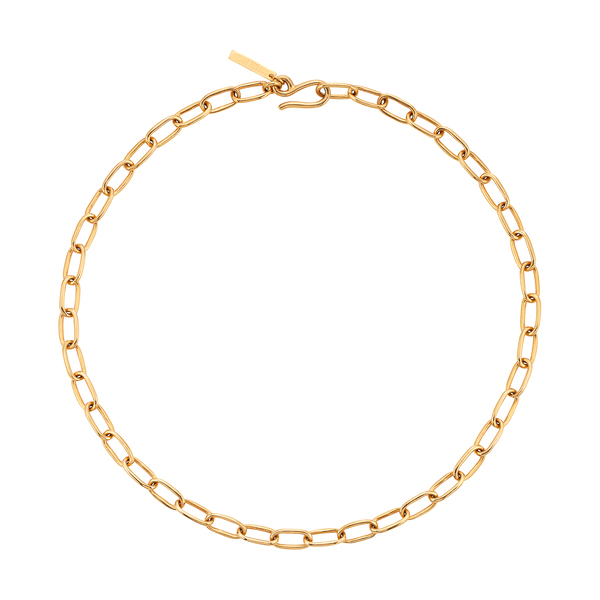 Sophie Buhai Small Gold Rectangular Chain Collar