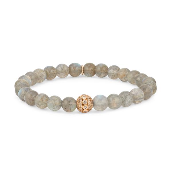 SHERYL LOWE Labradorite Bracelet with Pavé Bead