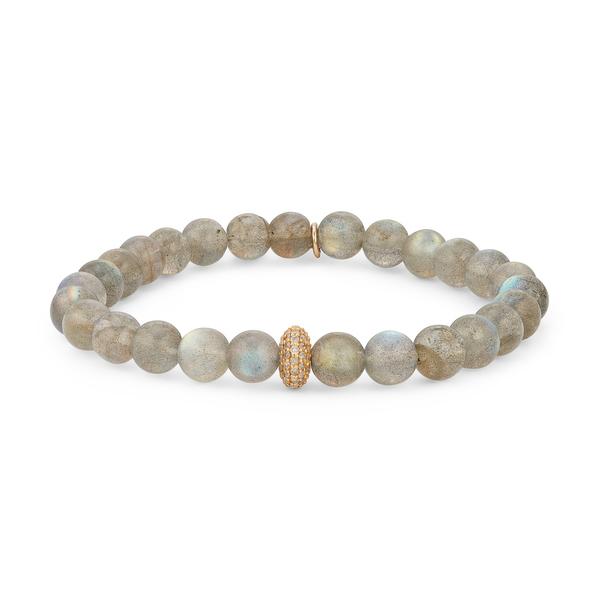 Sheryl Lowe Labradorite Bracelet with Diamond Donut Bead