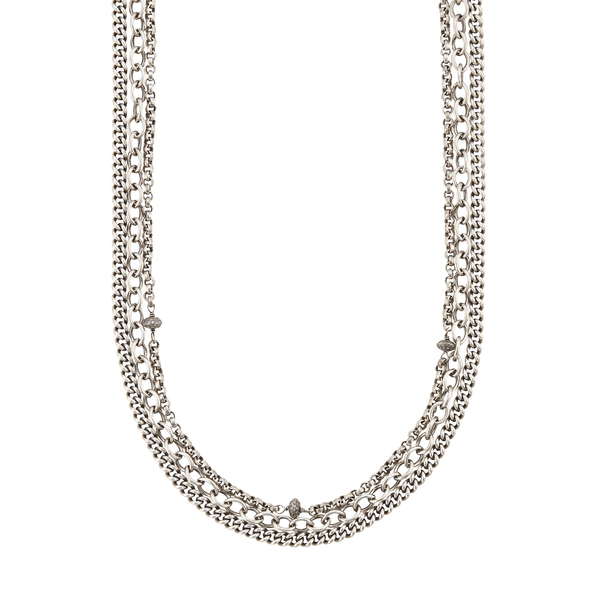 Sheryl Lowe Sterling Silver Triple Layer Chain