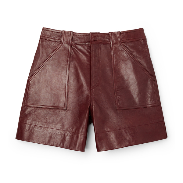 Ganni Leather Shorts