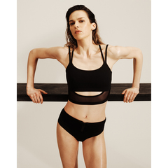 Double-Layer Midi Sports Bra