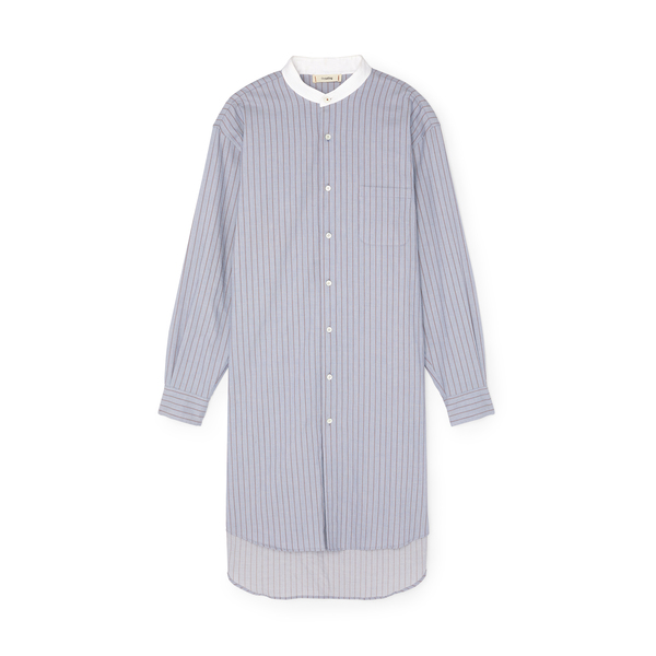 thesalting Sky Stripe Long Shirt