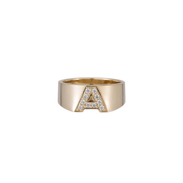 Ariel Gordon Pavé Letter Ring