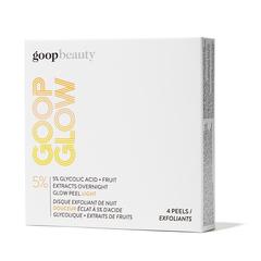 GOOPGLOW 5% Glycolic Acid Overnight Glow Peel Light - 4-Pack