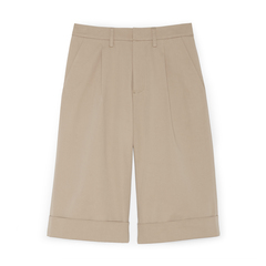 Justin Pleated Wide-Leg Shorts