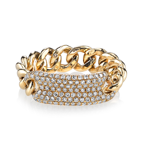 Shay Jewelry Pavé ID Link Ring