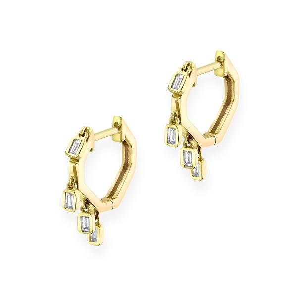 Shay Jewelry Mini Baguette Drop Huggies