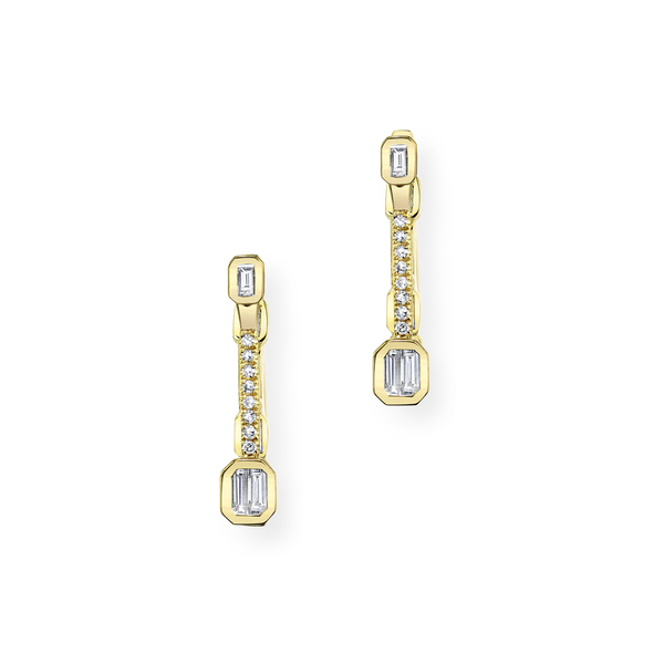 Shay Jewelry Baguette Punch Pavé Ear Jackets