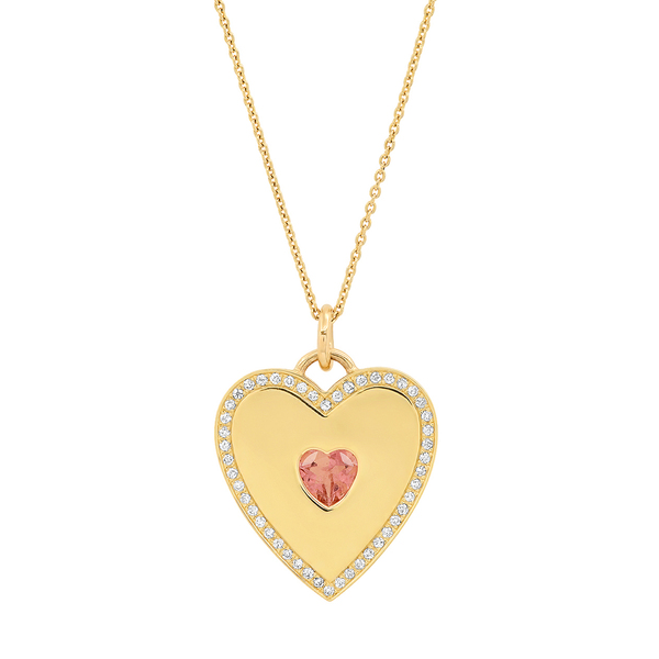Jennifer Meyer Diamond-Studded Heart Pendant