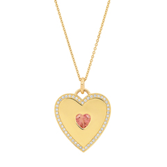 Diamond-Studded Heart Pendant
