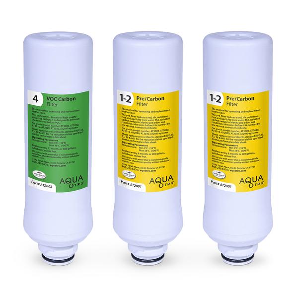 AQUATRU One-Year Filtration Combo Pack
