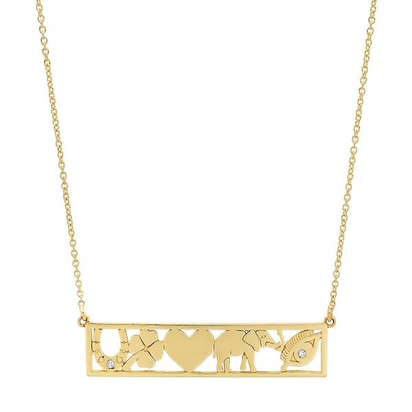 Jennifer Meyer Good Luck Bar Necklace