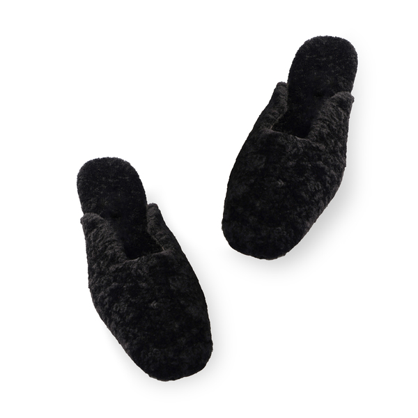 Sleeper Black Shearling Slippers