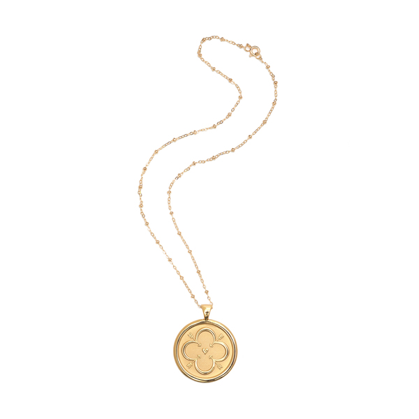 JANE WIN LOVE Coin Pendant Necklace
