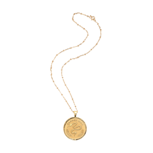 JANE WIN PROTECT Coin Pendant Necklace