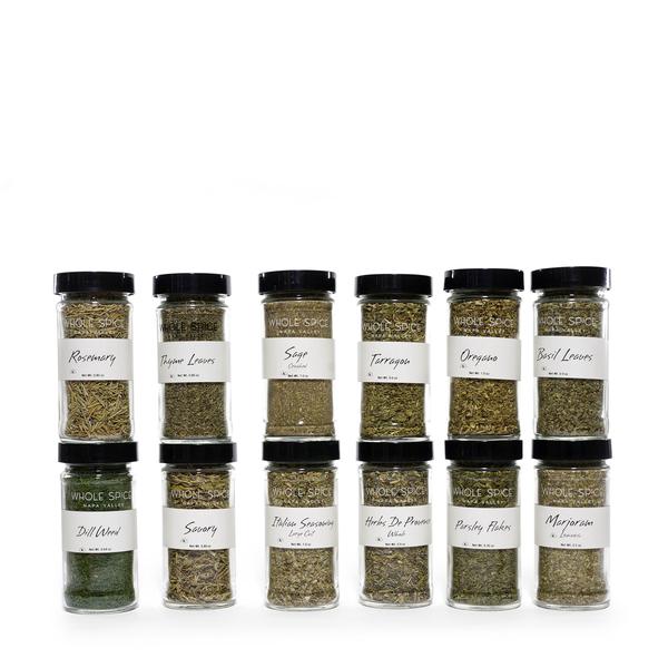 Whole Spice Herbs Jar Set