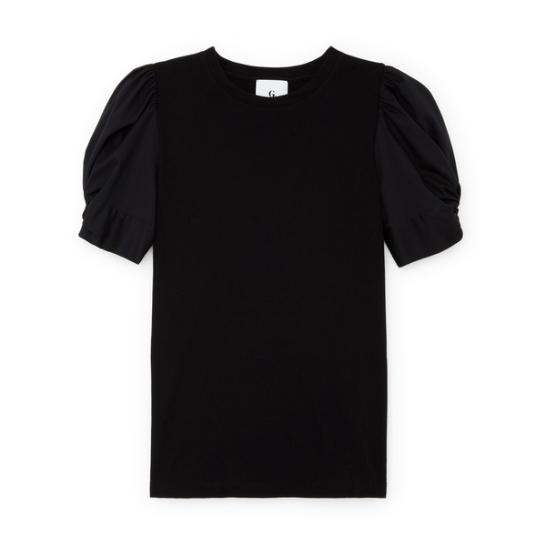 G. Label Christopher Puff-Sleeve Poplin T-Shirt