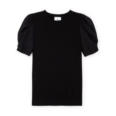 Christopher Puff-Sleeve Poplin T-Shirt