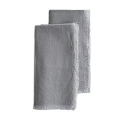 Fringed Flax Linen Napkin, Set of 2