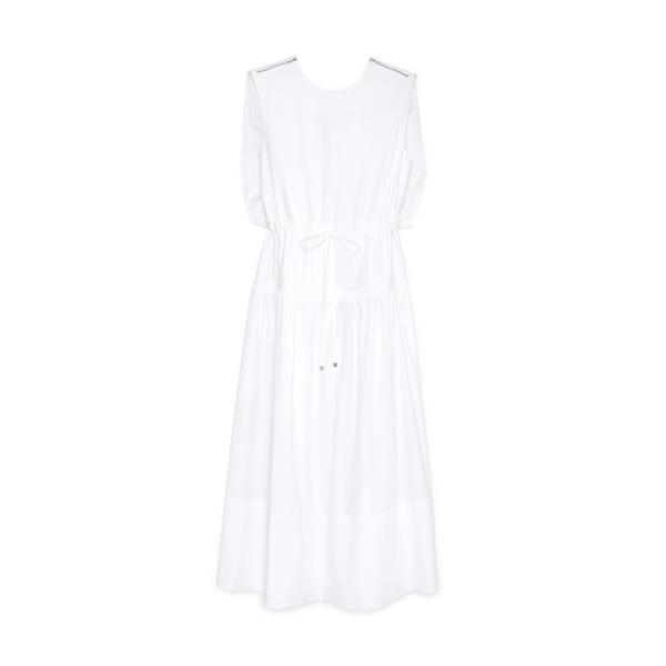 Tibi Eco Poplin Cape Dress