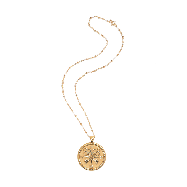 Jane Win Forever Coin Pendant Necklace