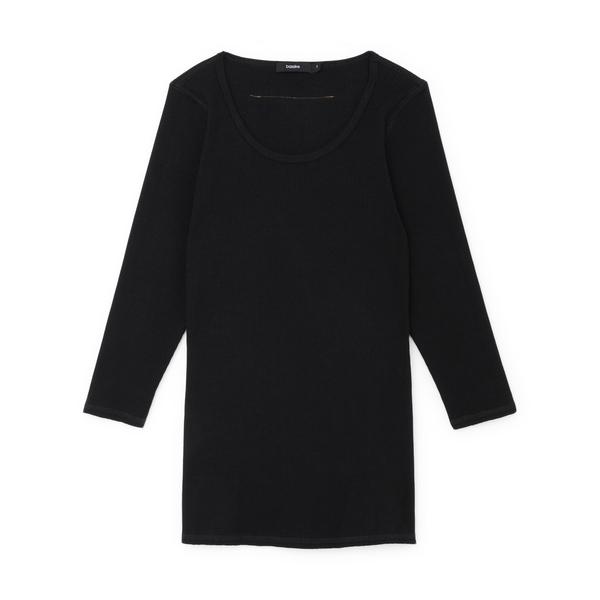 Bassike Ribbed 3/4 Sleeve Shirt