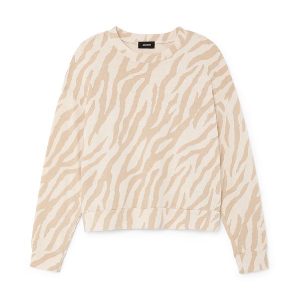 Monrow Zebra Boxy Sweatshirt