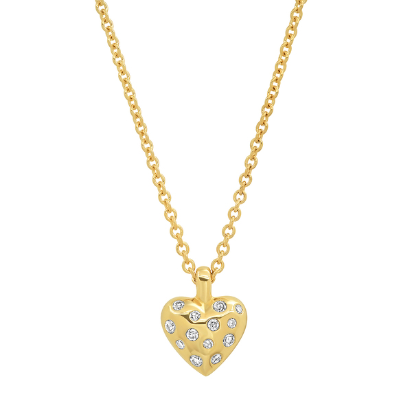 Eriness Reversible Puffy Heart Necklace