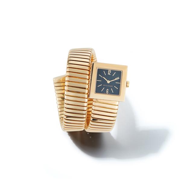 Jill Heller Vintage Jewelry Bulgari Gold Serpenti Tubogas Watch