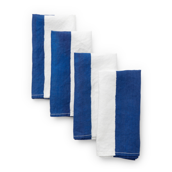 Summerill & Bishop  Blue-and-White-Striped Napkin