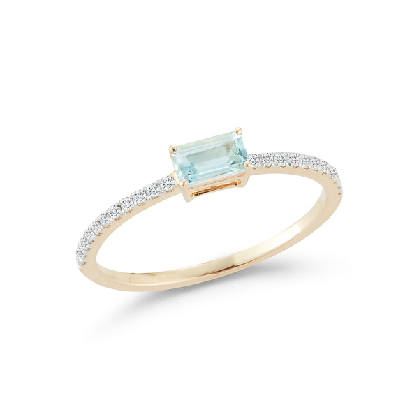 Mateo Emerald-Cut Aquamarine Ring