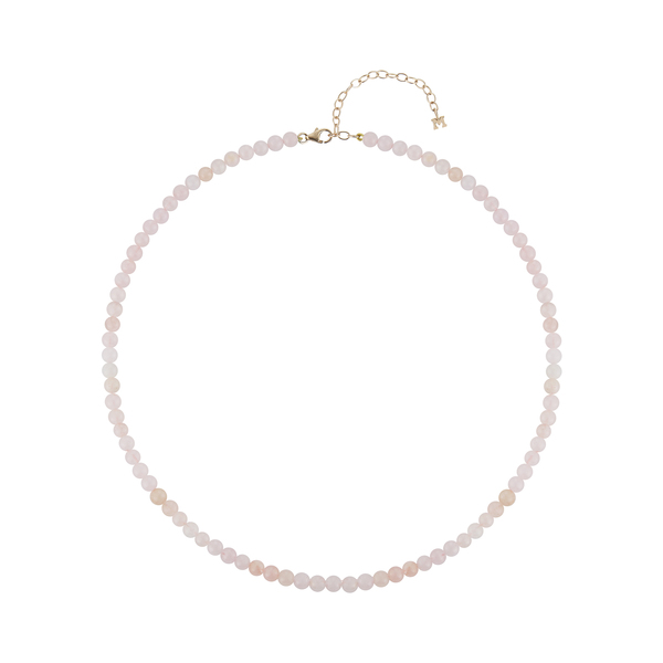 Mateo Rose Quartz Beaded Choker